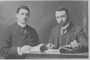 Ted Dewdney (left) and a Bank of Montreal colleague in about 1900.