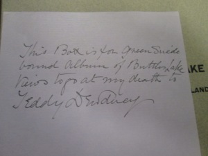 note from edgar in touchstones re teddy