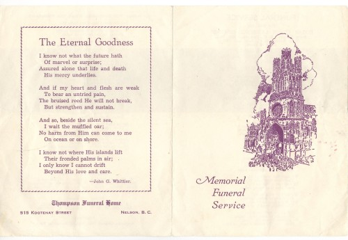 outside of ted funeral program 001