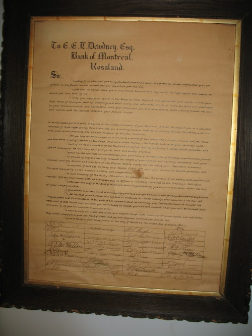 ted dewdney rossland scroll
