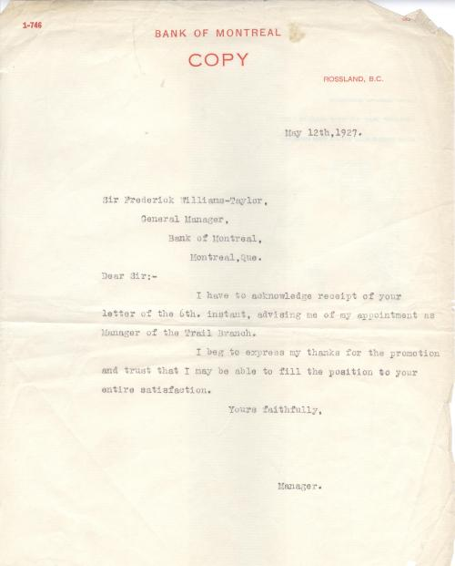 ted letter to sir frederick 1927 001
