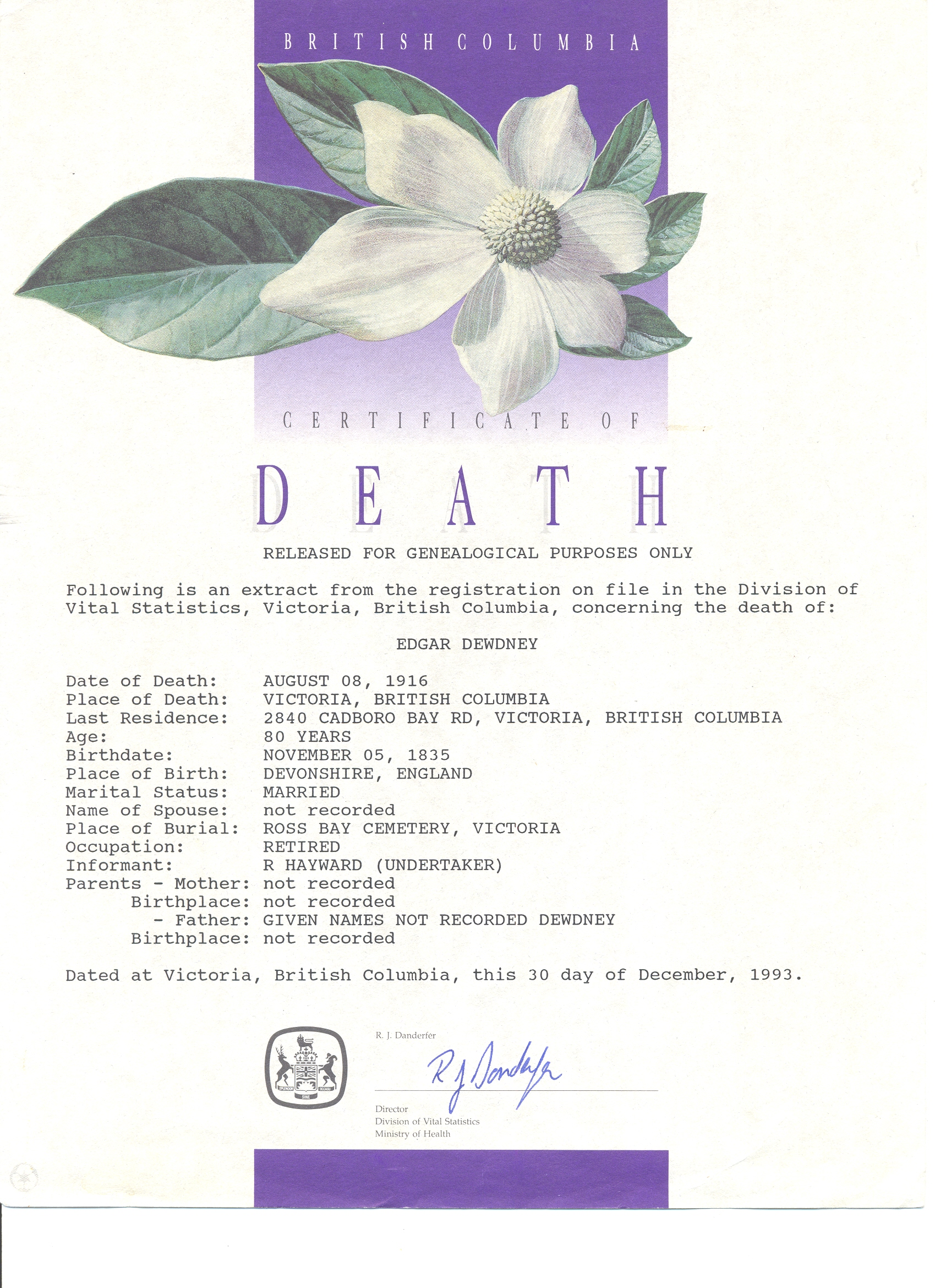 Death Records and Death Certificates - How to obtain a copy