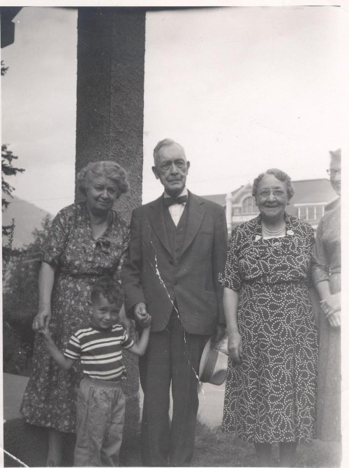 Edith with McBrides in Nelson