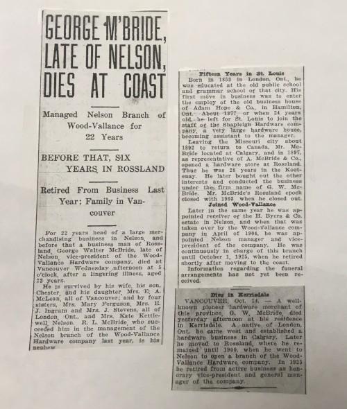 gw mcb died oct 13 1926