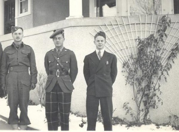 from left, Blake Allan, cousin Ken G. McBride and Blake`s brother Alex Allan